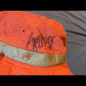Orioles bucket hat w/ Brady Anderson signature
